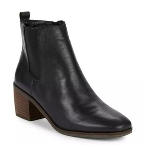 Lucky Brand Mekinly Leather Black Booties 8.5